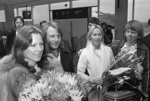 Abba arriiving schipholland holland 1976 -